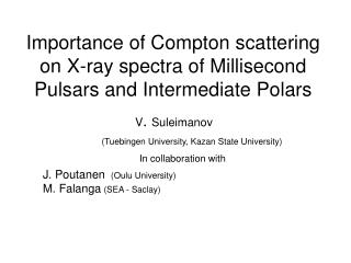 Importance of Compton scattering on X-ray spectra of Millisecond Pulsars and Intermediate Polars