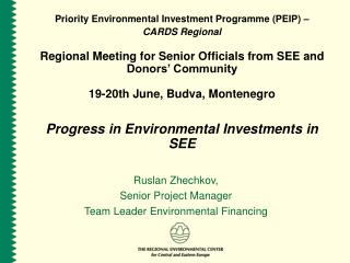 Priority Environmental Investment Programme (PEIP) –