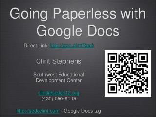 Going Paperless with Google Docs