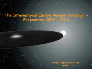 The International Epsilon Aurigae Campaign - photometry