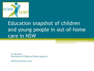 Education snapshot of children and young people in out-of-home care in NSW