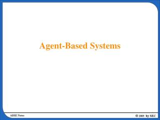 Agent-Based Systems