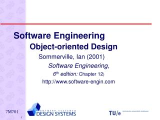 Software Engineering Object-oriented Design