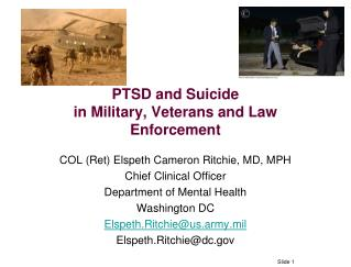 PTSD and Suicide in Military, Veterans and Law Enforcement