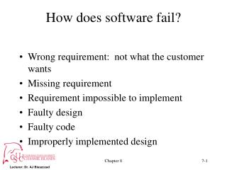 How does software fail?