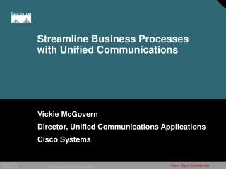 Streamline Business Processes with Unified Communications