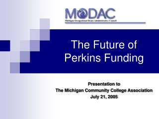 The Future of Perkins Funding