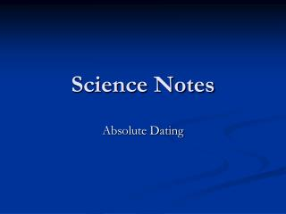 Science Notes