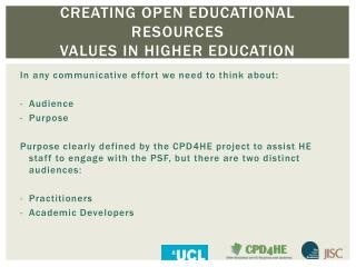 CREATING OPEN EDUCATIONAL RESOURCES VALUES IN HIGHER EDUCATION