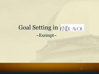 Goal Setting in  ~Exempt~