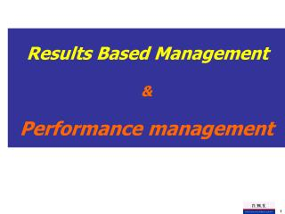 & Performance management