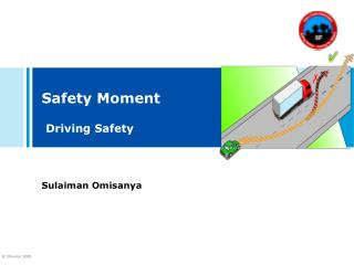 Safety Moment Driving Safety