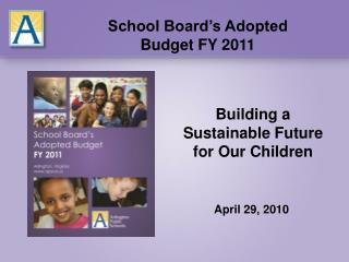 Building a Sustainable Future for Our Children