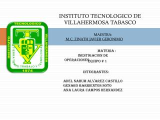 INSTITUTO TECNOLOGICO DE VILLAHERMOSA TABASCO