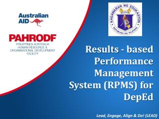 Results - based  Performance Management System (RPMS) for  DepEd