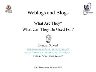 Weblogs and Blogs