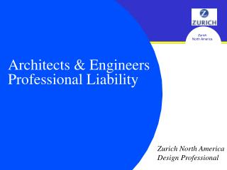 Architects & Engineers Professional Liability
