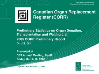 Canadian Organ Replacement Register (CORR)