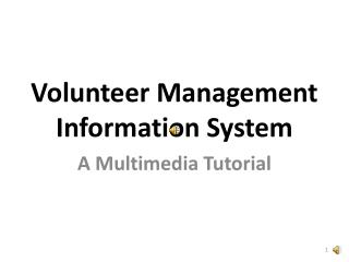 Volunteer Management Information System