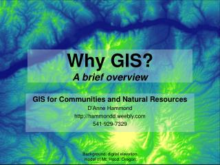 Why GIS? A brief overview