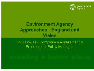 Environment Agency Approaches - England and Wales