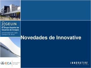 Novedades de Innovative
