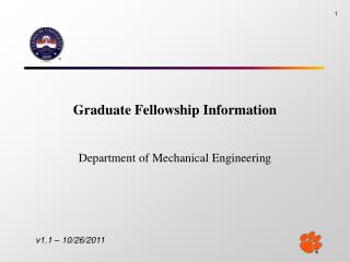 Graduate Fellowship Information