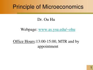 Principle of Microeconomics