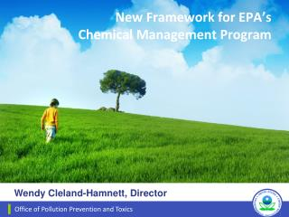New Framework for EPA's     Chemical Management Program