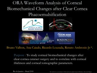 ORA Waveform Analysis of Corneal Biomechanical Changes after Clear Cornea Phacoemulsification