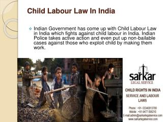 Child Labour Law In India.
