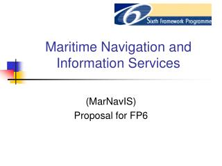 Maritime Navigation and Information Services