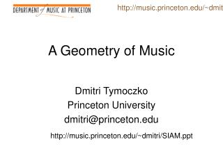 A Geometry of Music