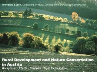 Rural Development and Nature Conservation  in Austria