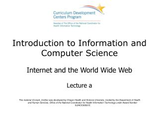 Introduction to Information and Computer Science