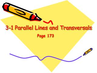 3-1 Parallel Lines and Transversals