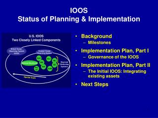 IOOS Status of Planning & Implementation