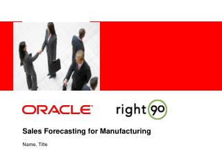 Sales Forecasting for Manufacturing