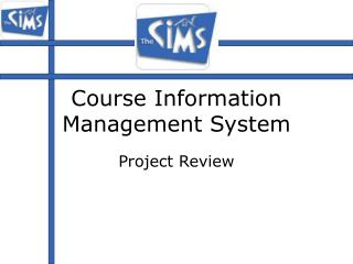 Course Information Management System