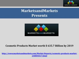 Cosmetic Products Market