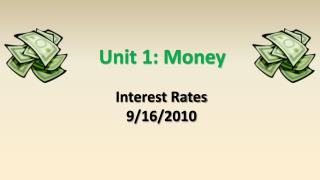 Unit 1: Money