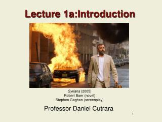 Lecture 1a:Introduction