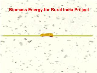 Biomass Energy for Rural India Project