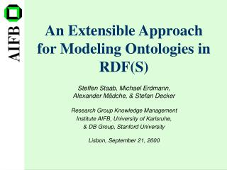 An Extensible Approach for Modeling Ontologies in RDF(S)