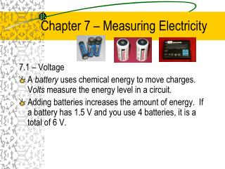 Chapter 7 – Measuring Electricity