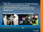 2009 CSS Summer Symposium PSTP08-120 Study:  A scenario-based approach to protecting  Telecommunications Critical Infras