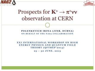 Prospects for  K +  →  p + nn observation at CERN