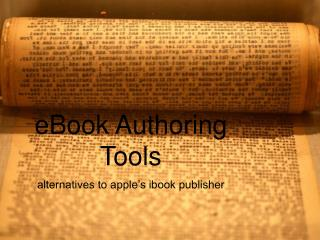 eBook Authoring Tools