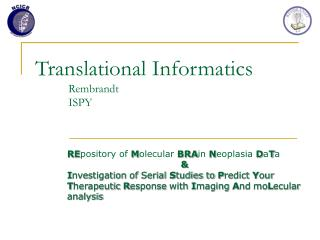 Translational Informatics Rembrandt ISPY