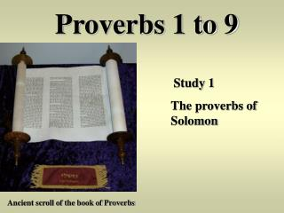 Proverbs 1 to 9